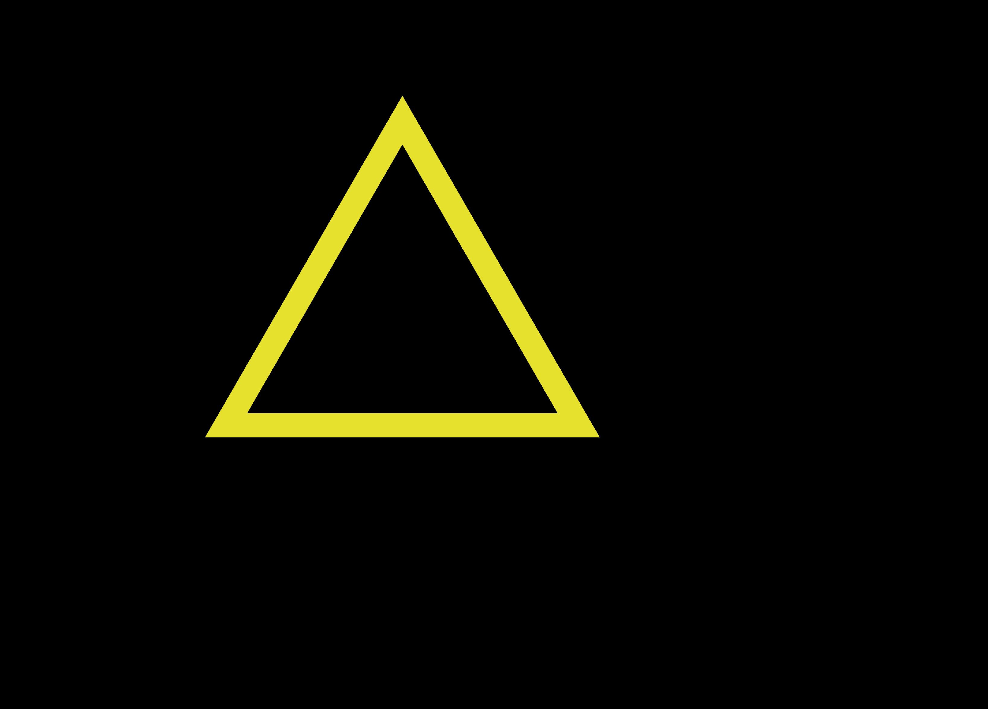 トップイメージの中央背景の三角